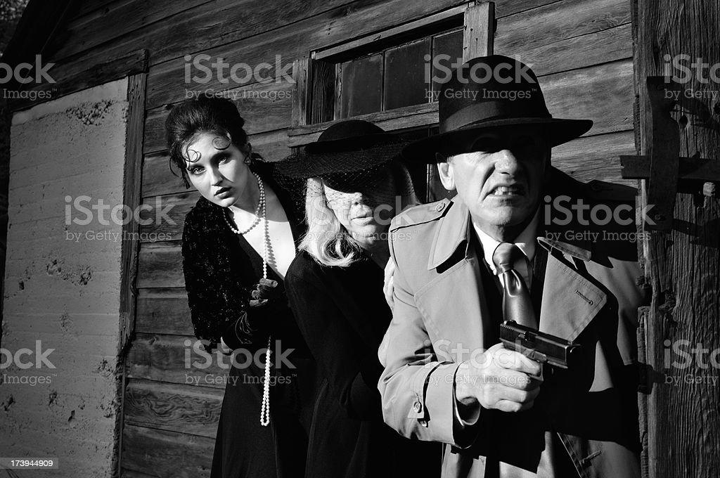 Film Noir Murder Mystery stock photo