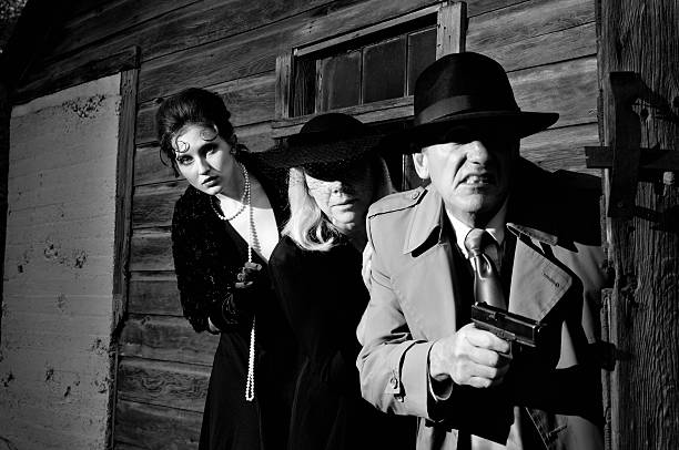 Film Noir Murder Mystery stock photo