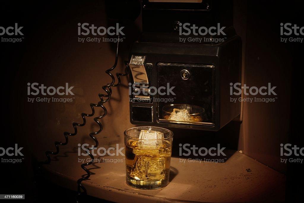 Film Noir Phone Booth - Scotch stock photo