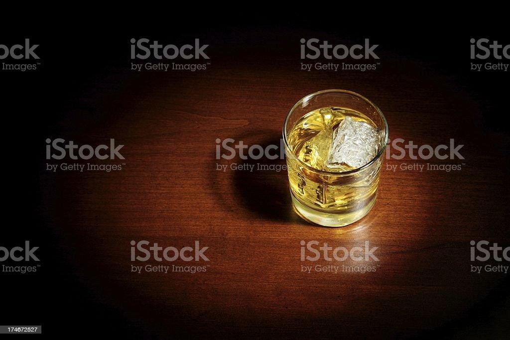 Film Noir Scotch on the Rocks royalty-free stock photo