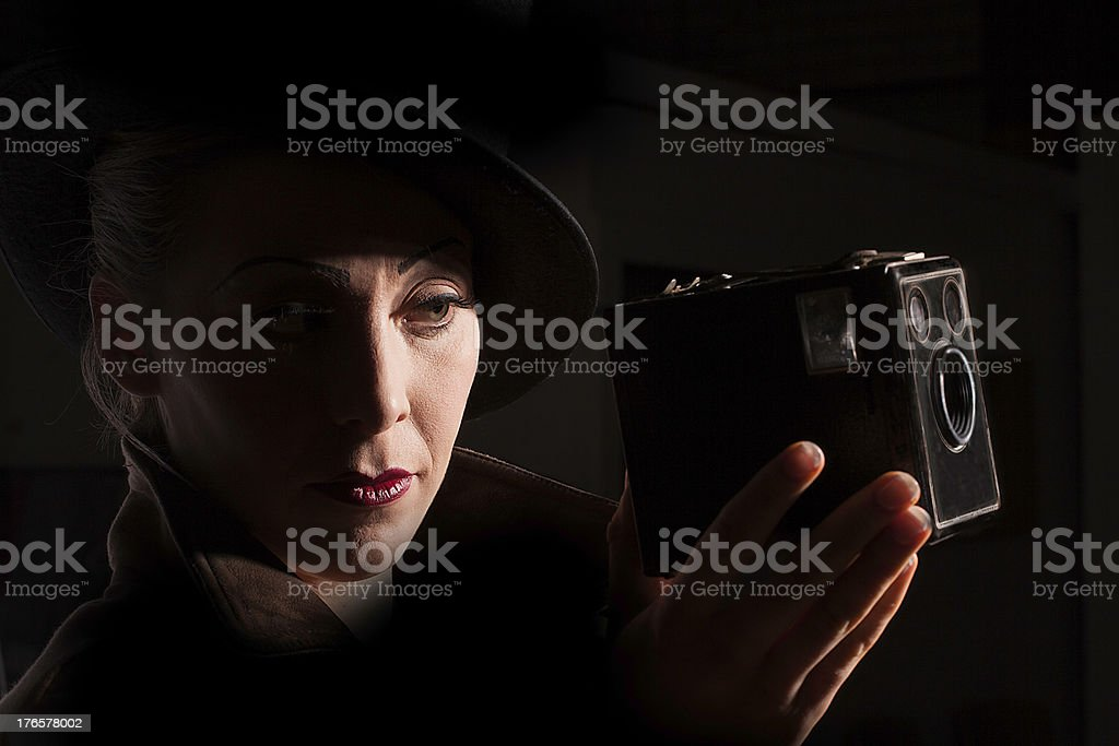 Film Noir style portrait royalty-free stock photo