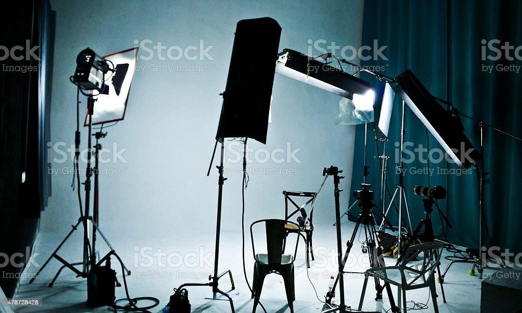 TV, film, photographic studio stock photo