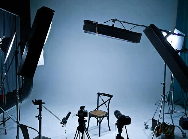 TV, film, photographic studio stock photo