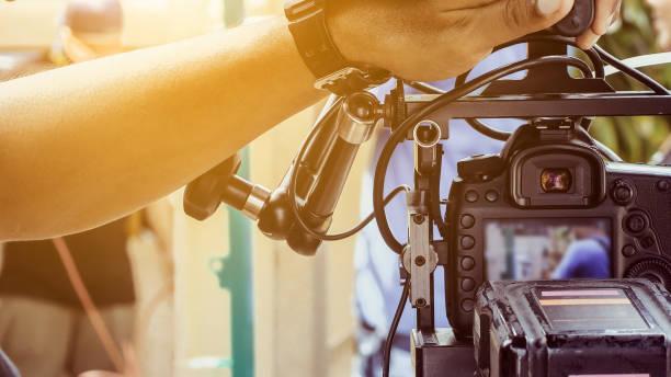 Film production crew stock photo