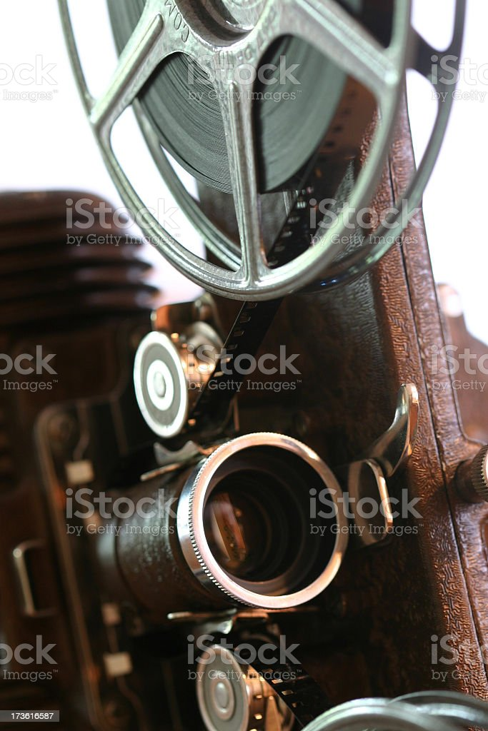 Film Projector closeup stock photo