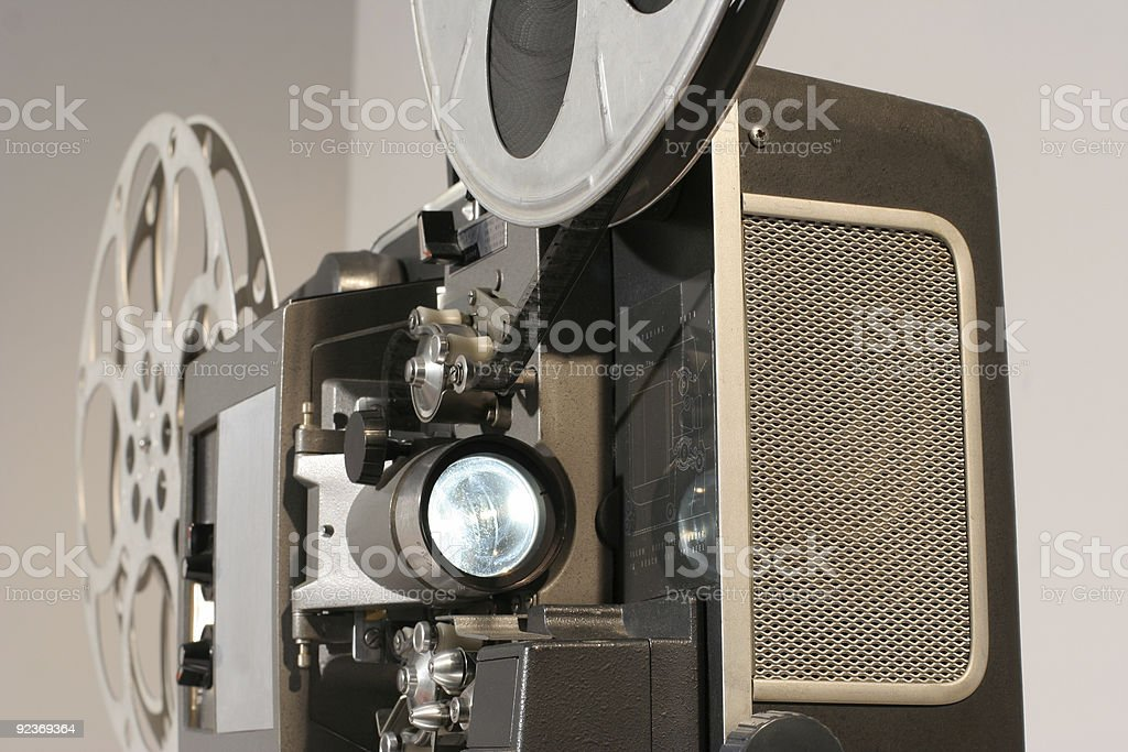 Film Projector Front Close royalty-free stock photo