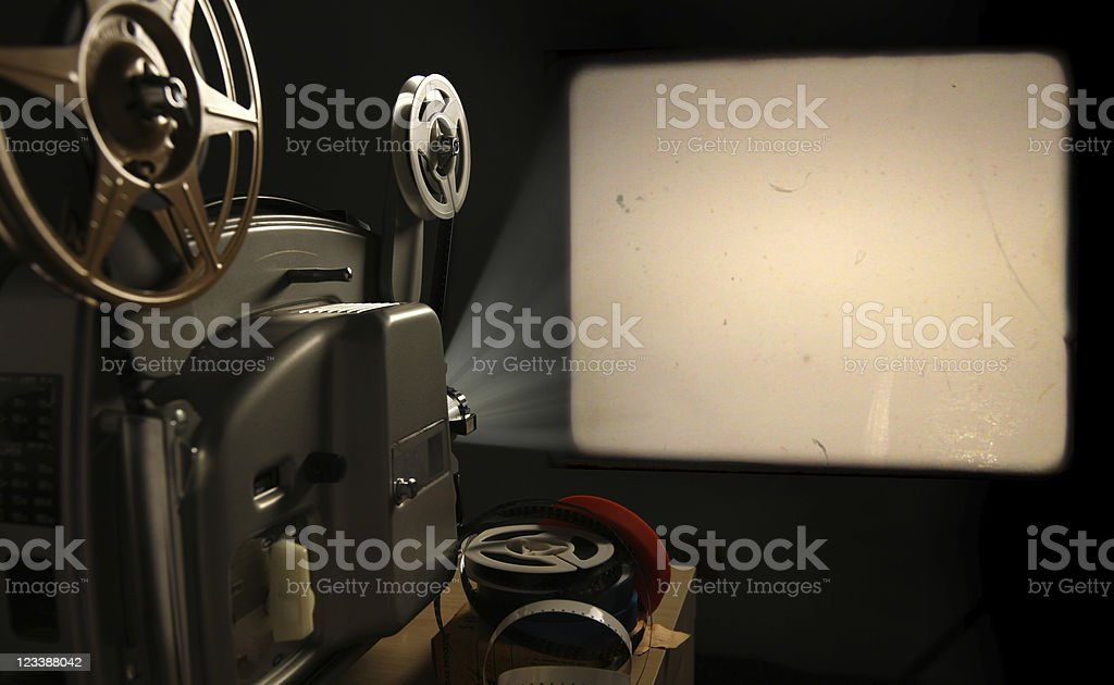 Film Projector with Blank Frame stock photo