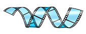 Film reel. Cinema or photography 35mm film strip tape. 3d illustration isolated on the white background.