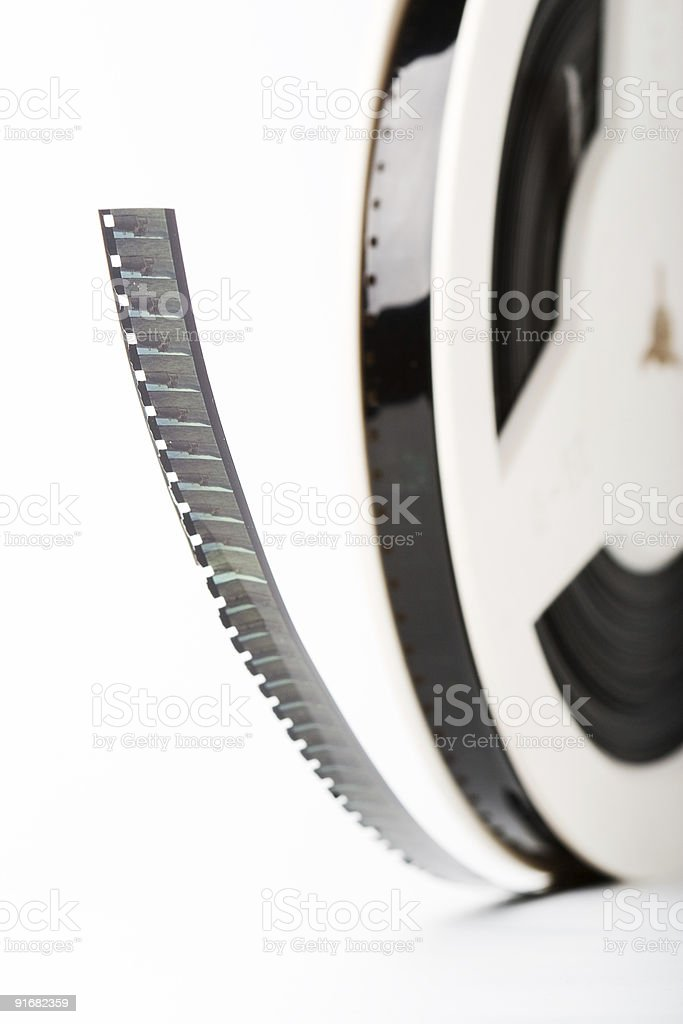 film reel closeup stock photo
