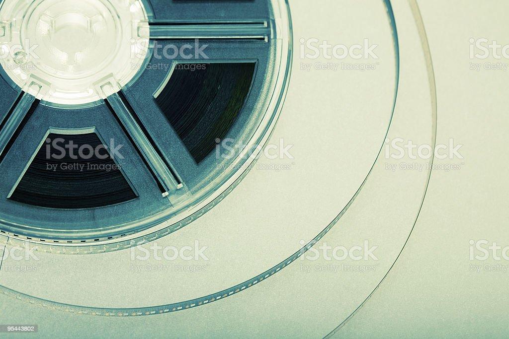 film reel concept stock photo