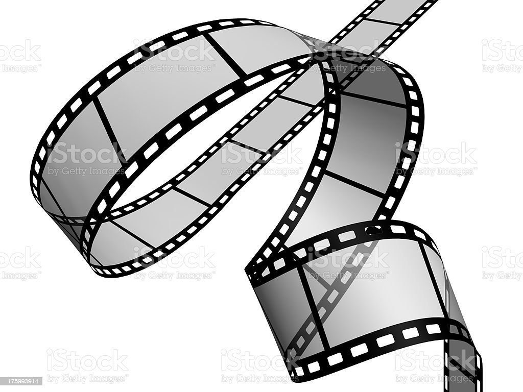 Film reel in high resolution royalty-free stock photo