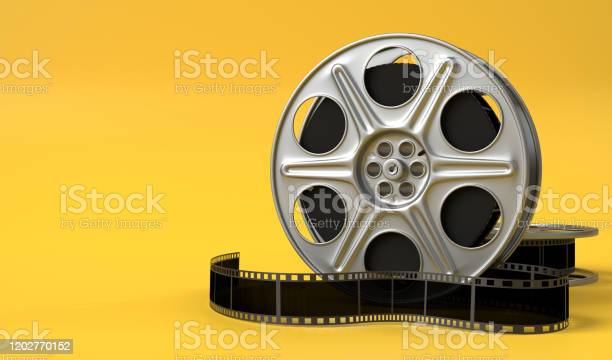 Film reel isolated on bright yellow background in pastel colors picture id1202770152?b=1&k=6&m=1202770152&s=612x612&h=iu2h1l7 r6k wloszrgjypzzekhjpgsckejbt3t8uda=