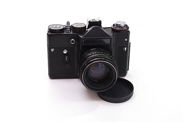 film reflex camera stock photo