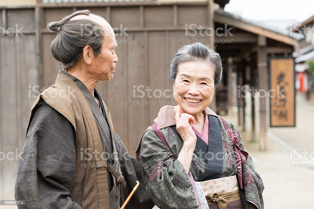 Film Scene From Old Japanese Town Stock Photo - Download Image Now