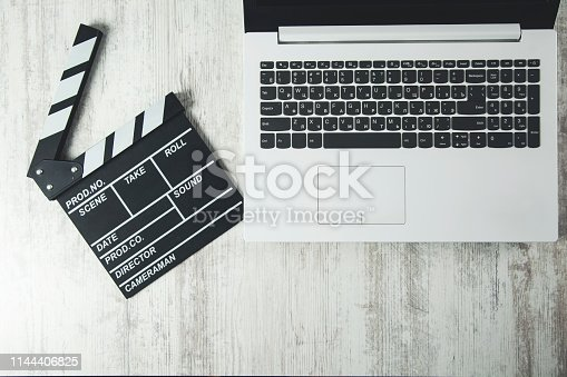film sign  on the computer  keyboard on desk