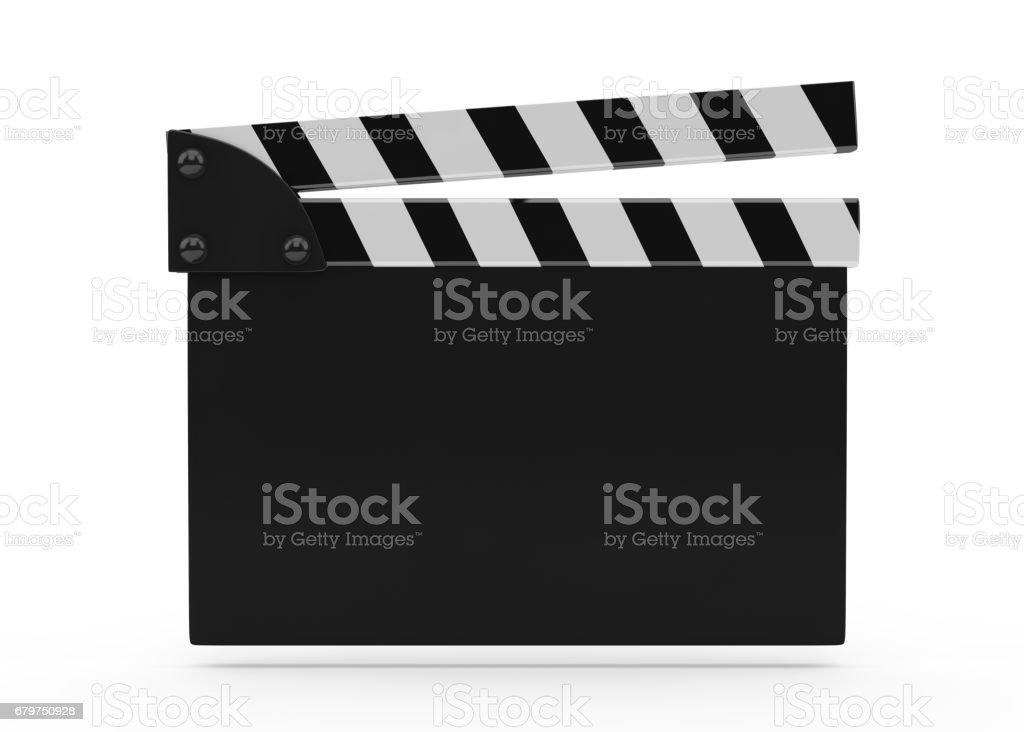 Film Slate On white stock photo