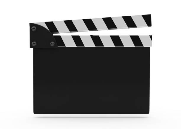 film schiefer auf weiß - oscar filme stock-fotos und bilder