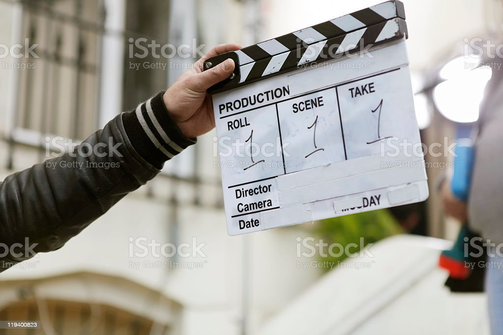 film slate stock photo
