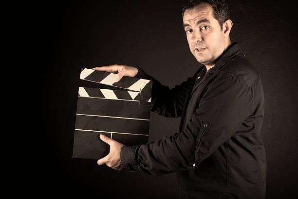 filmklappe, - klappe hut stock-fotos und bilder