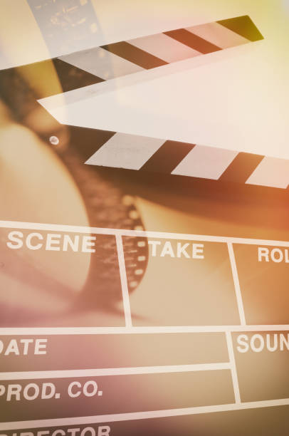 film slate - film festival stock photos and pictures
