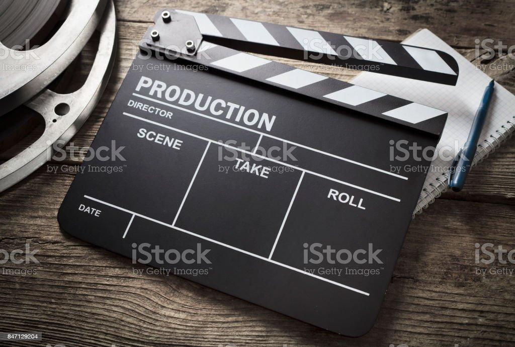 Film-Schiefer - Lizenzfrei Altertümlich Stock-Foto