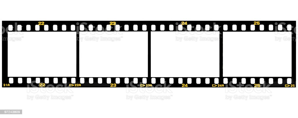 Film Slide for four Pictures royalty-free stock photo
