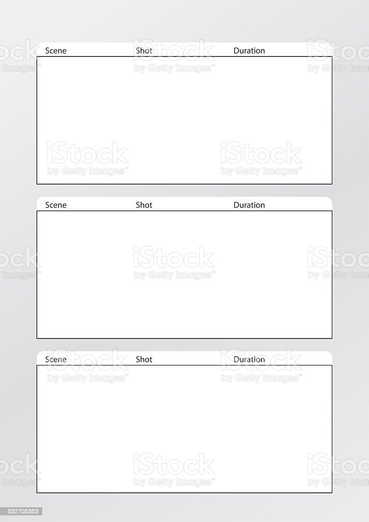 Film Storyboard Template Vertical X3 Stock Photo & More Pictures of ...