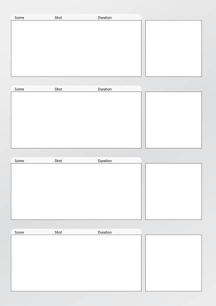 storyboard de plantilla vertical x - video modelo fotografías e imágenes de stock