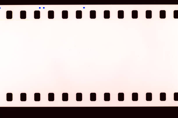 Film strip detail stock photo
