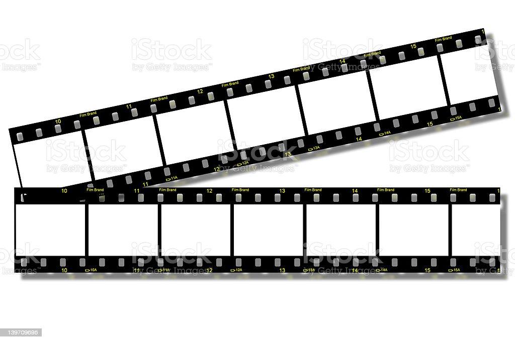 Film Strips (Clip Path) stock photo