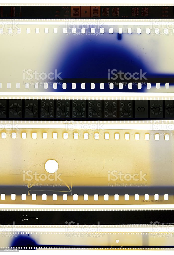 SMPTE Film Strips stock photo