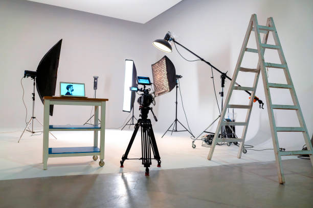 Film studio stock photo