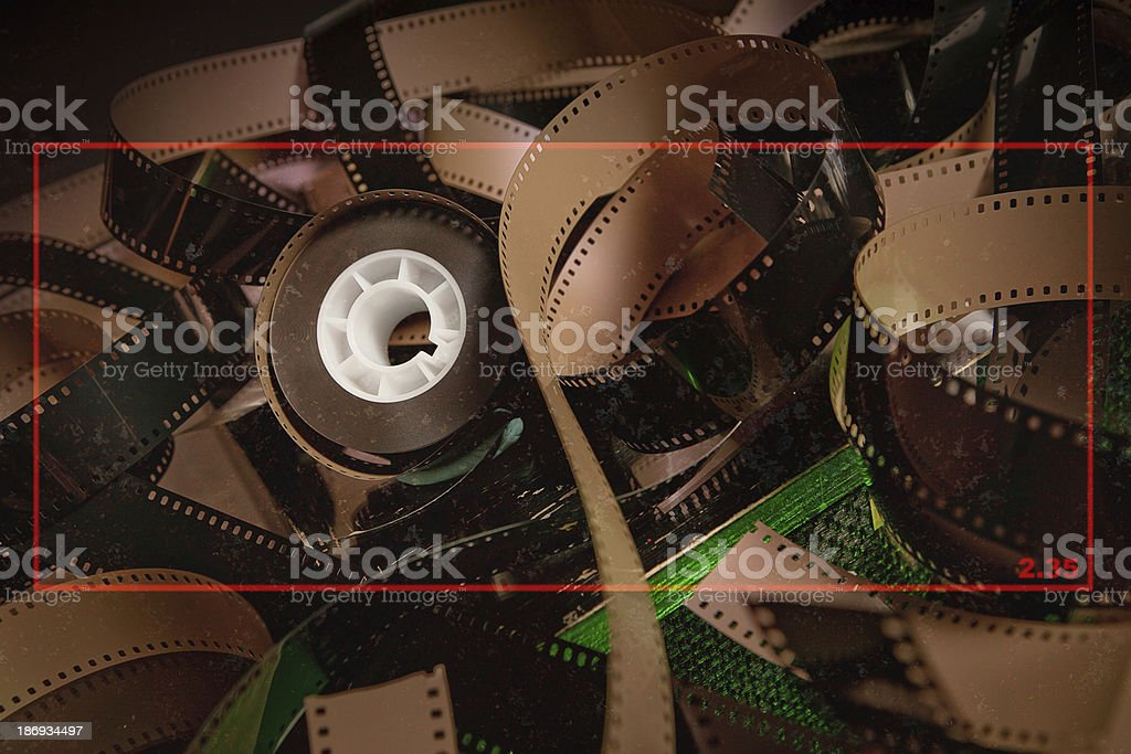 2:35 film texture and ration for cinema stock photo