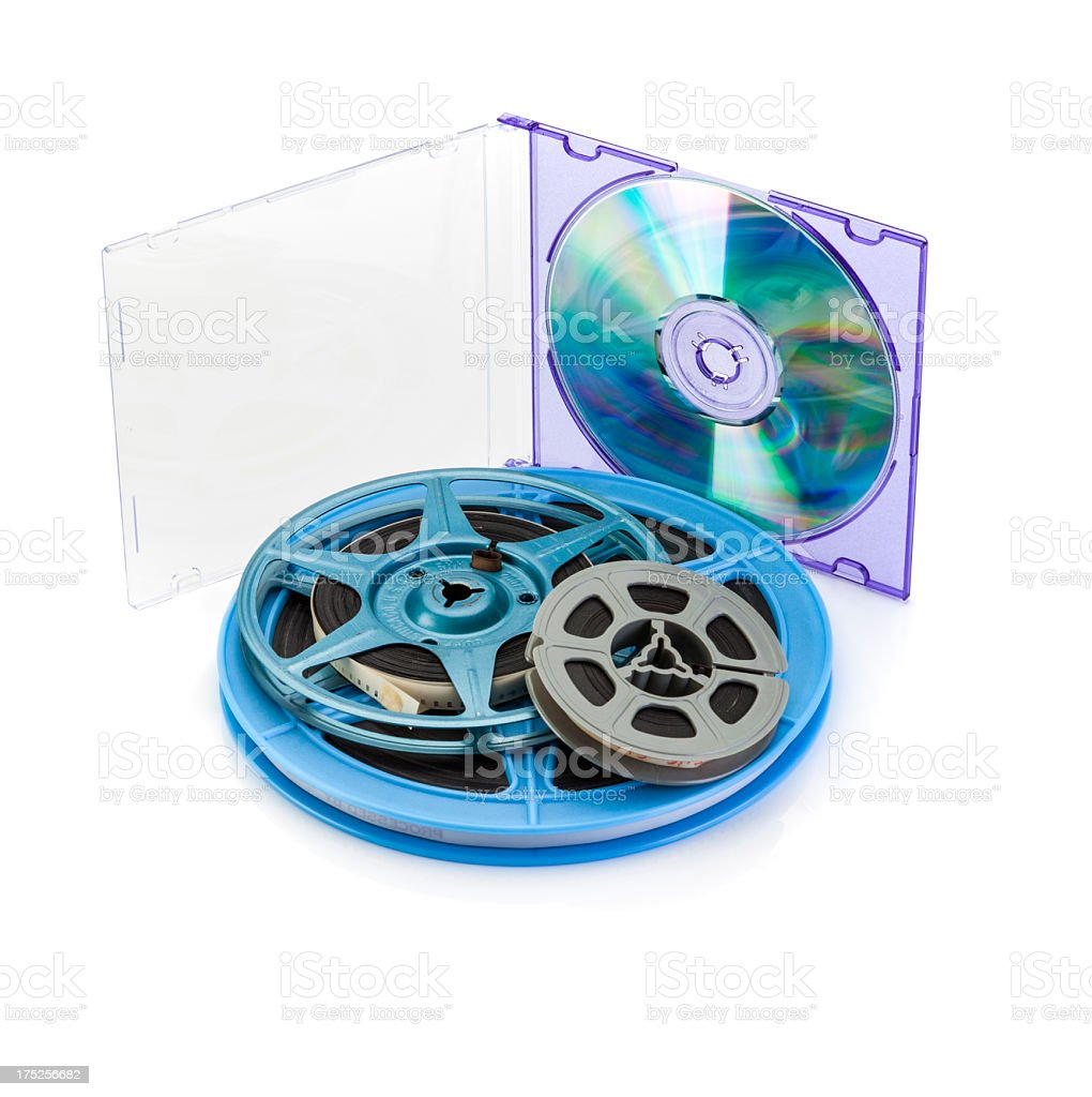 Film to DVD Conversion royalty-free stock photo