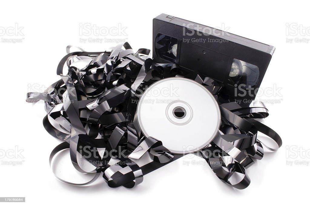 Film to DVD royalty-free stock photo