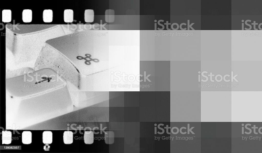 film to pixels royalty-free stock photo