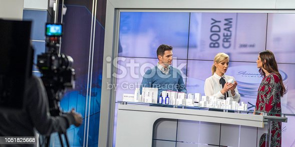 istock Filming a TV commercial about body cream 1051825668