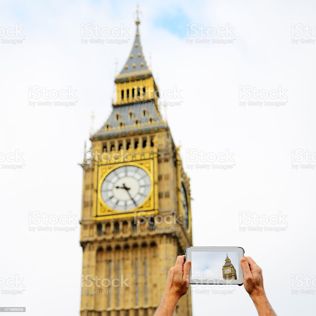 Filming Big Ben, London - England royalty-free stock photo