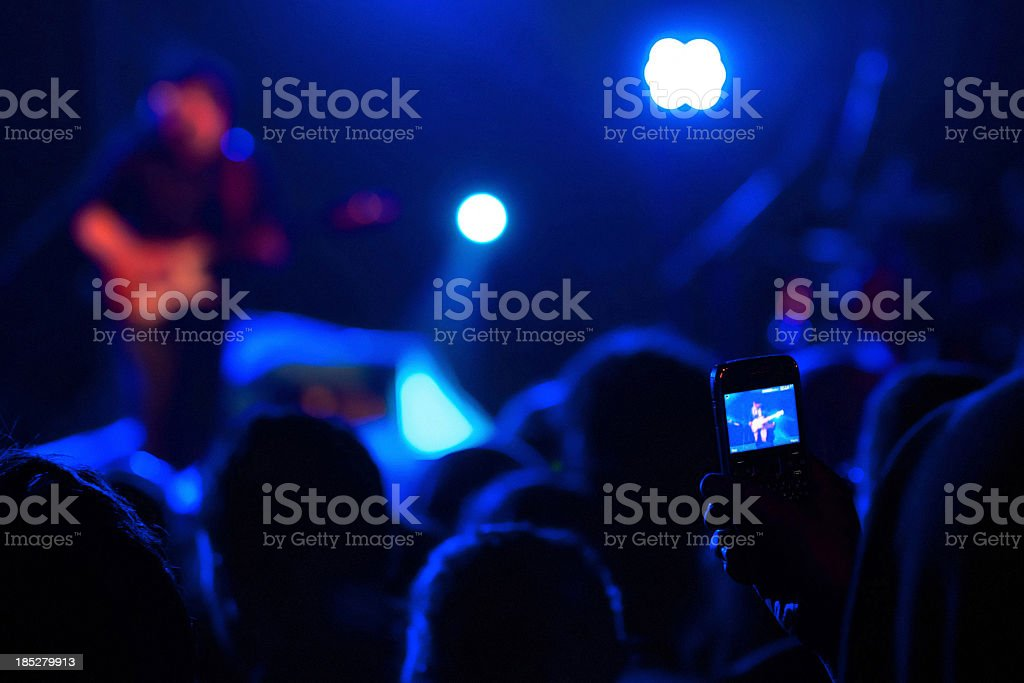 Filming Concert royalty-free stock photo