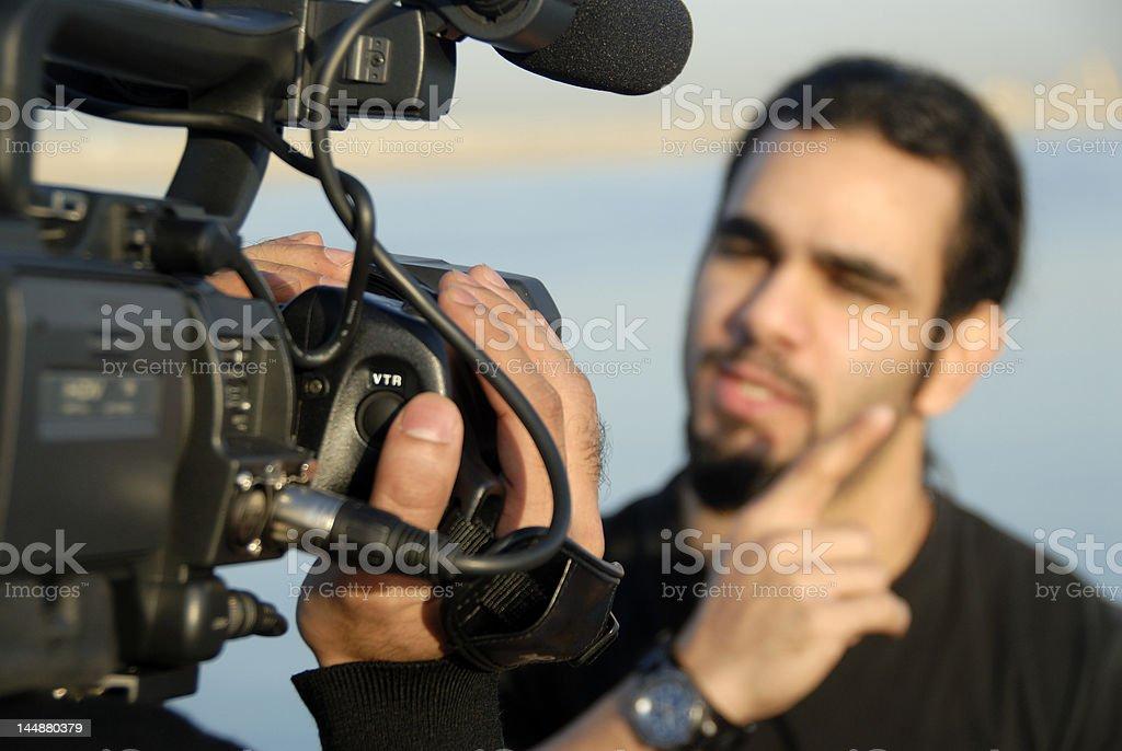 Filming In Progress stock photo
