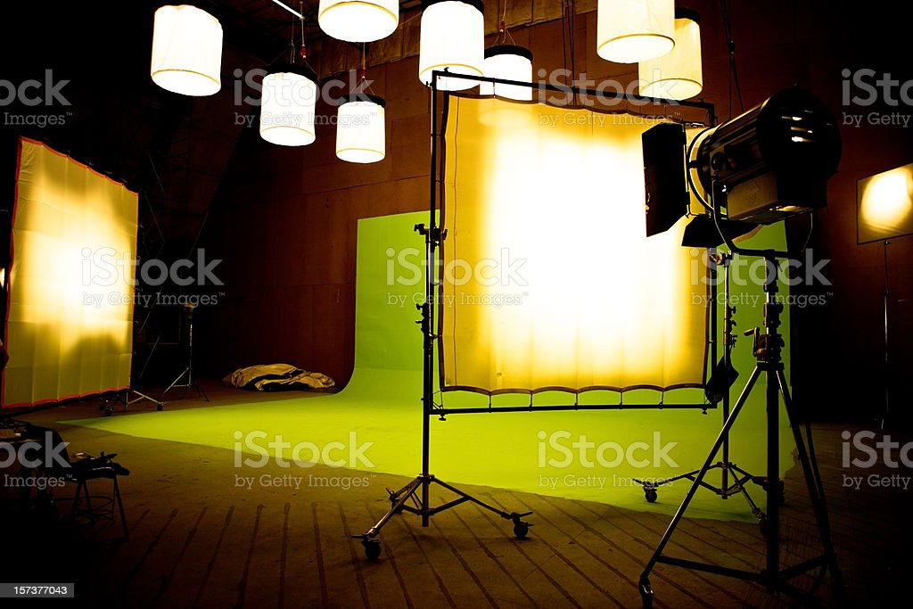 Filming on chromakey royalty-free stock photo