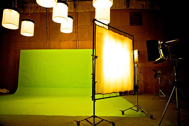 filming on chromakey - green screen background stock photos and pictures