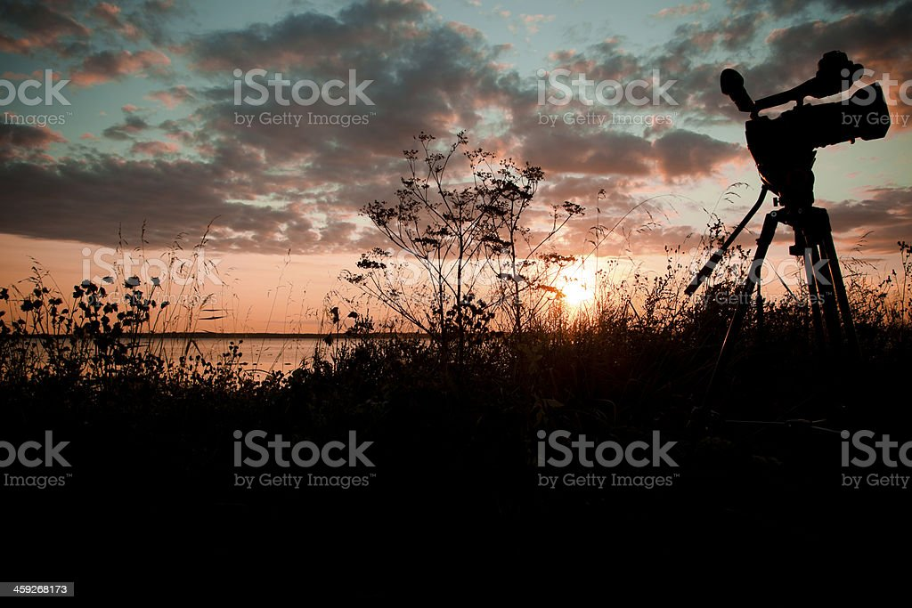 Filming outdoors royalty-free stock photo