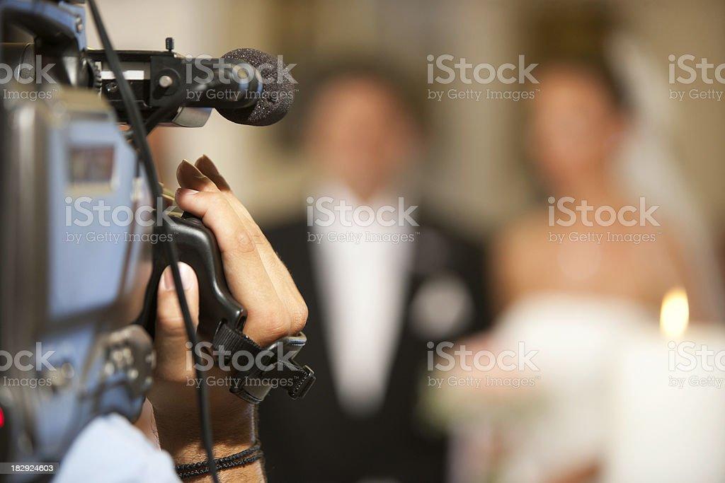 Filming stock photo