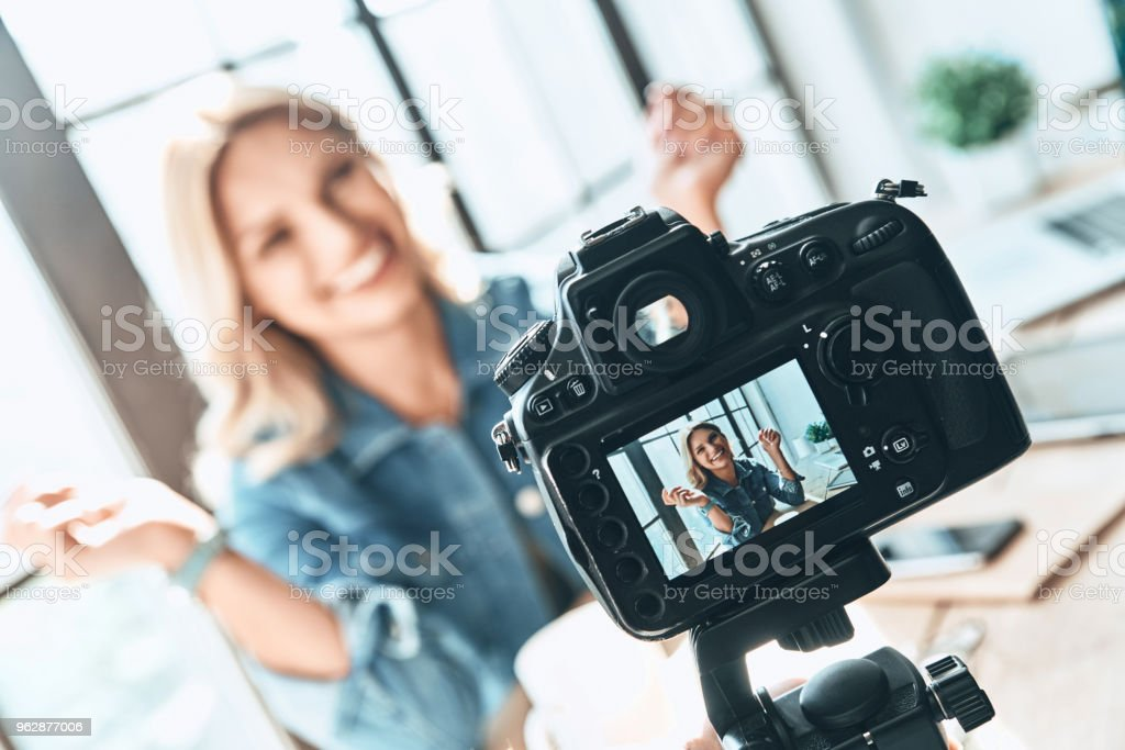 Filming. stock photo