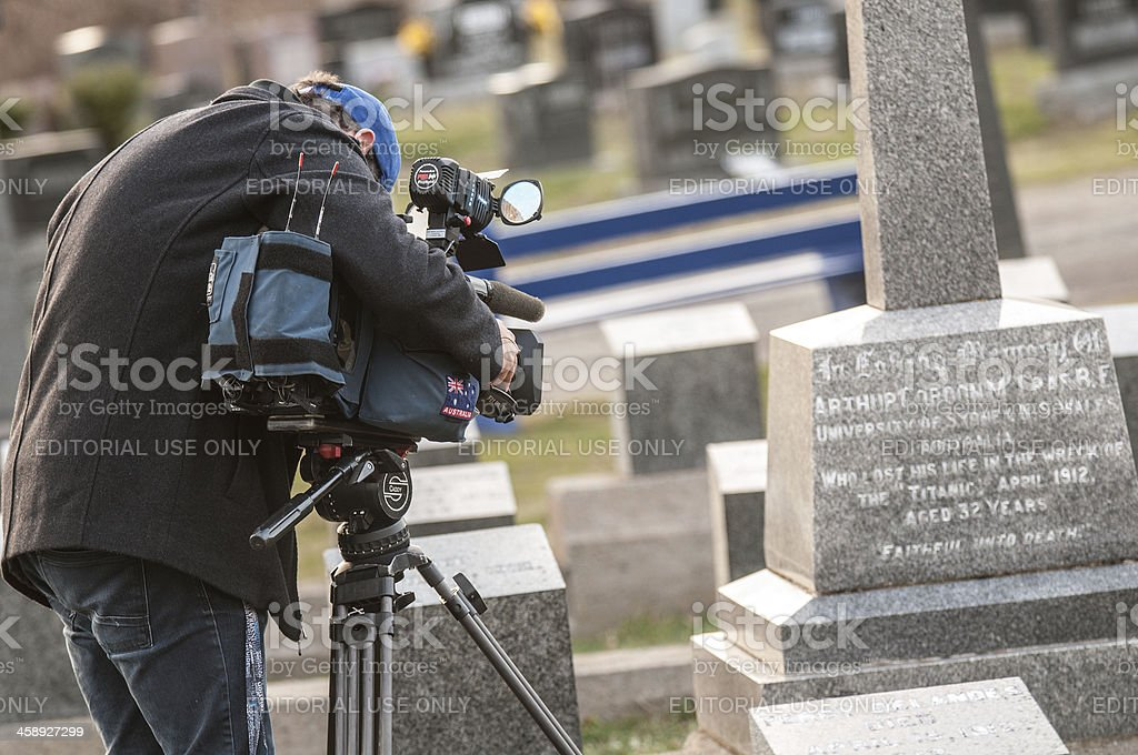 Filming Titanic Graveyard stock photo