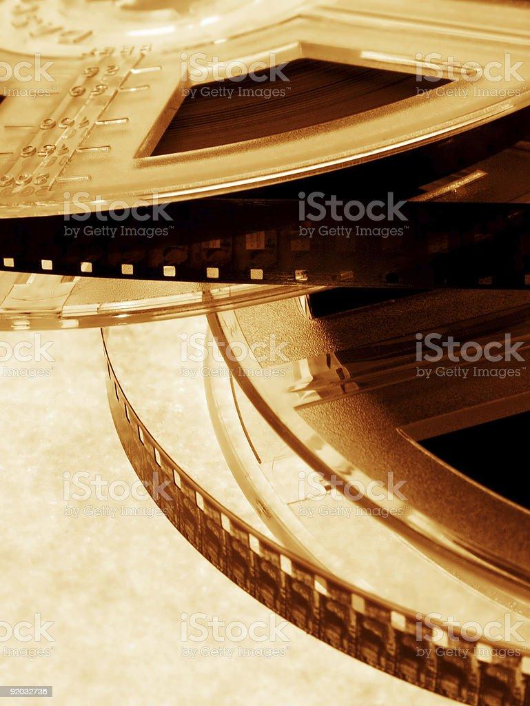 Films on golden light stock photo
