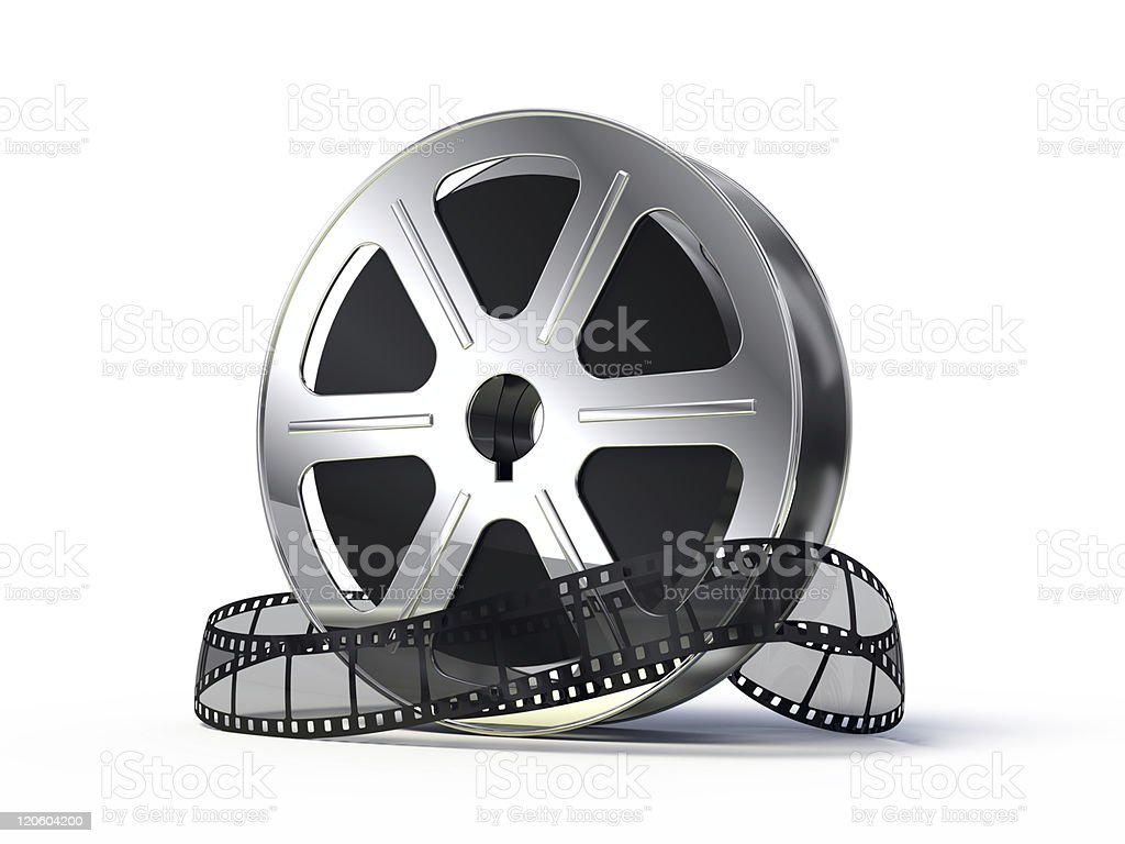 Films spool stock photo