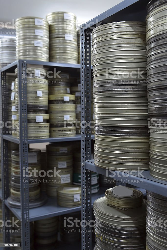 films were stored in the archive stock photo