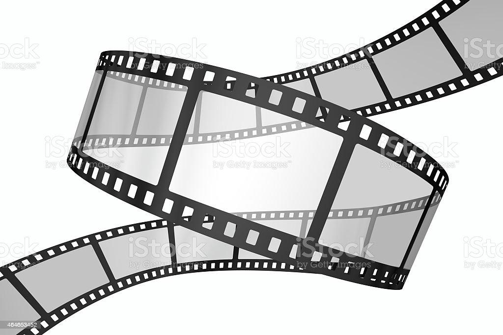 Filmstrip loop on white stock photo
